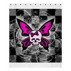 Skull Butterfly Shower Curtain 60  x 72  (Medium)