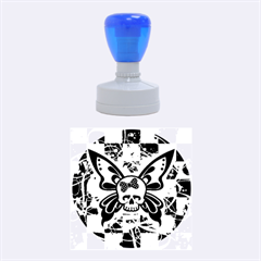 Skull Butterfly Rubber Round Stamps (medium)