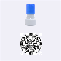 Skull Butterfly Rubber Round Stamps (Small)