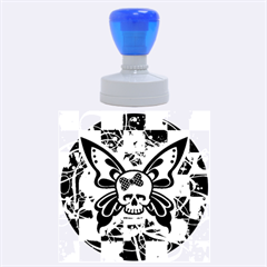 Skull Butterfly Rubber Round Stamps (Large)