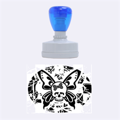 Skull Butterfly Rubber Oval Stamps