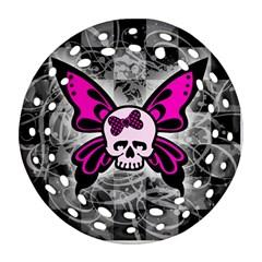Skull Butterfly Ornament (Round Filigree)