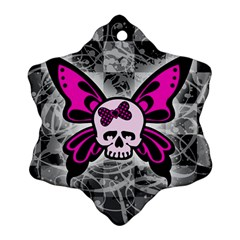 Skull Butterfly Snowflake Ornament (2 Side)