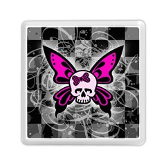 Skull Butterfly Memory Card Reader (Square)