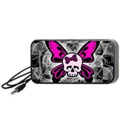 Skull Butterfly Portable Speaker (Black)