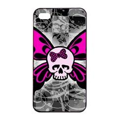 Skull Butterfly Apple Iphone 4/4s Seamless Case (black)