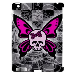 Skull Butterfly Apple Ipad 3/4 Hardshell Case (compatible With Smart Cover)