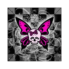 Skull Butterfly Acrylic Tangram Puzzle (6  x 6 )