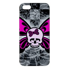 Skull Butterfly Apple Iphone 5 Premium Hardshell Case