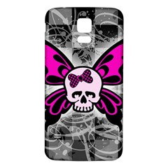 Skull Butterfly Samsung Galaxy S5 Back Case (White)