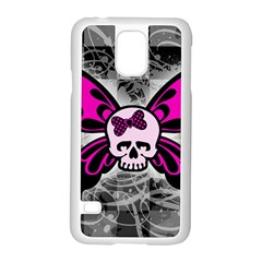 Skull Butterfly Samsung Galaxy S5 Case (white)