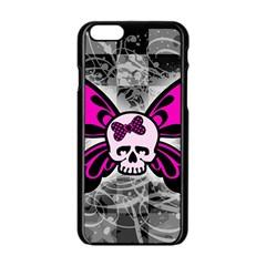 Skull Butterfly Apple iPhone 6 Black Enamel Case