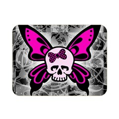 Skull Butterfly Double Sided Flano Blanket (Mini)