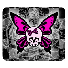 Skull Butterfly Double Sided Flano Blanket (small)