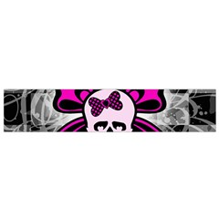 Skull Butterfly Flano Scarf (Small)