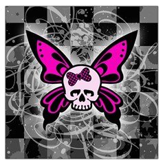 Skull Butterfly Large Satin Scarf (square)