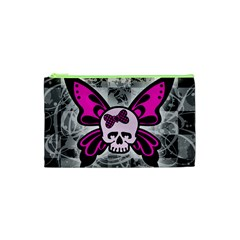 Skull Butterfly Cosmetic Bag (xs)