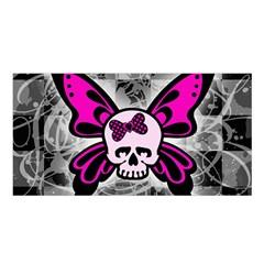 Skull Butterfly Satin Shawl