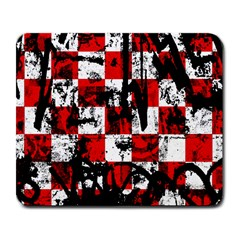 Emo Checker Graffiti Large Mousepads