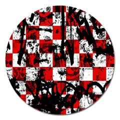 Emo Checker Graffiti Magnet 5  (round)