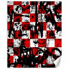 Emo Checker Graffiti Canvas 16  X 20