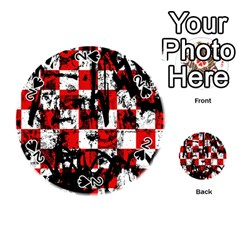 Emo Checker Graffiti Playing Cards 54 (Round)