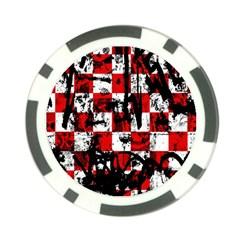 Emo Checker Graffiti Poker Chip Card Guards