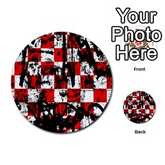 Emo Checker Graffiti Multi-purpose Cards (Round)