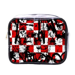 Emo Checker Graffiti Mini Toiletries Bags