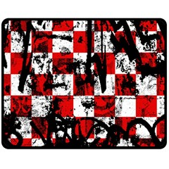 Emo Checker Graffiti Fleece Blanket (medium)