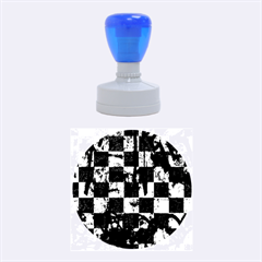 Emo Checker Graffiti Rubber Round Stamps (Medium)