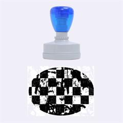 Emo Checker Graffiti Rubber Oval Stamps