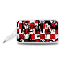 Emo Checker Graffiti Portable Speaker (White)