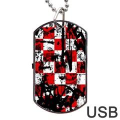 Emo Checker Graffiti Dog Tag USB Flash (One Side)