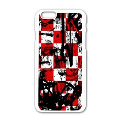 Emo Checker Graffiti Apple iPhone 6 White Enamel Case