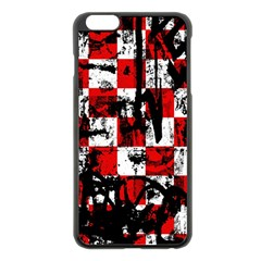 Emo Checker Graffiti Apple Iphone 6 Plus Black Enamel Case