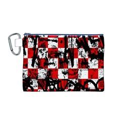 Emo Checker Graffiti Canvas Cosmetic Bag (M)