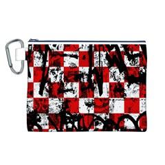 Emo Checker Graffiti Canvas Cosmetic Bag (L)