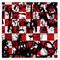 Emo Checker Graffiti Large Satin Scarf (square)