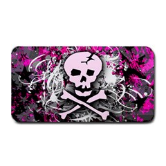 Pink Skull Splatter Medium Bar Mats