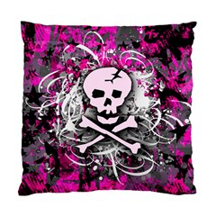 Pink Skull Splatter Standard Cushion Cases (two Sides)