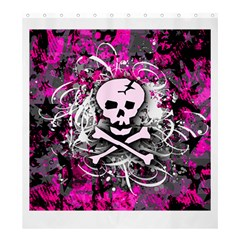 Pink Skull Splatter Shower Curtain 66  x 72  (Large)