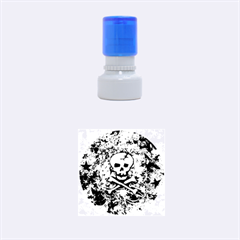 Pink Skull Splatter Rubber Round Stamps (Small)