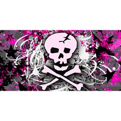 Pink Skull Splatter YOU ARE INVITED 3D Greeting Card (8x4)