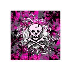 Pink Skull Splatter Acrylic Tangram Puzzle (4  x 4 )