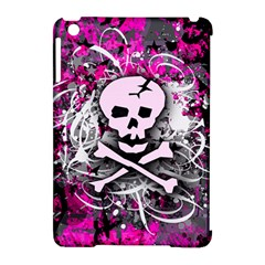 Pink Skull Splatter Apple Ipad Mini Hardshell Case (compatible With Smart Cover)