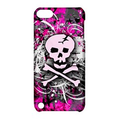 Pink Skull Splatter Apple Ipod Touch 5 Hardshell Case With Stand