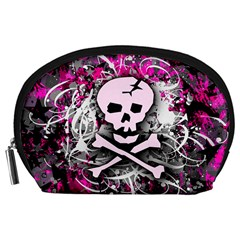 Pink Skull Splatter Accessory Pouches (large)