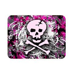 Pink Skull Splatter Double Sided Flano Blanket (Mini)