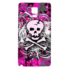 Pink Skull Splatter Galaxy Note 4 Back Case